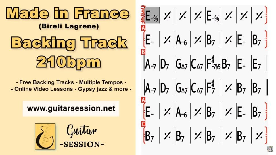Guitar Session - Backing tracks