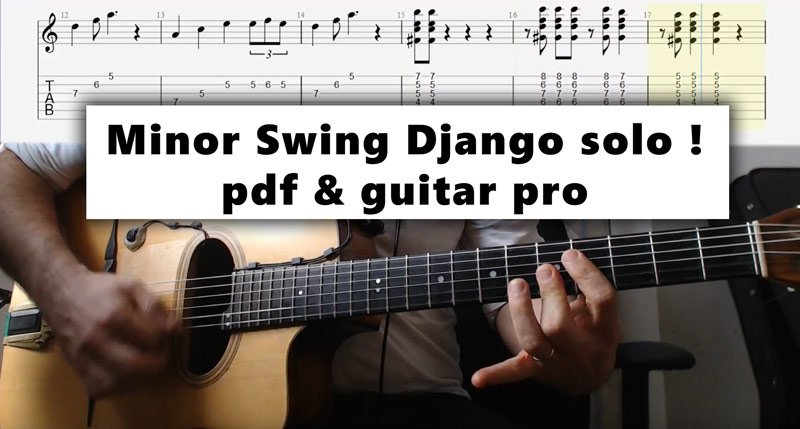 Guitar Session: Learn minor swing solo