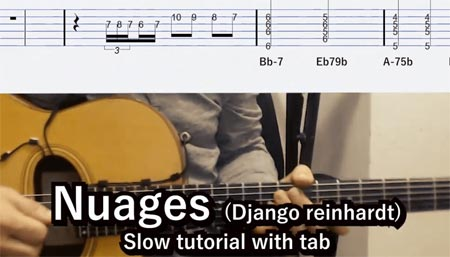 Learn Nuages gypsy jazz
