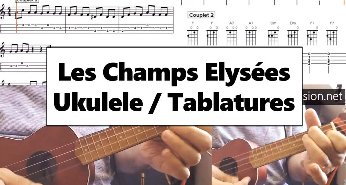 Les champs elysees ukulele